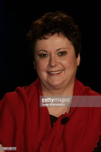 Campus Tv Show On February 12 2004 In Paris France Christine Boutin
