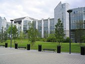 A modern building on the campus of University College Cork (UCC) in Cork City.