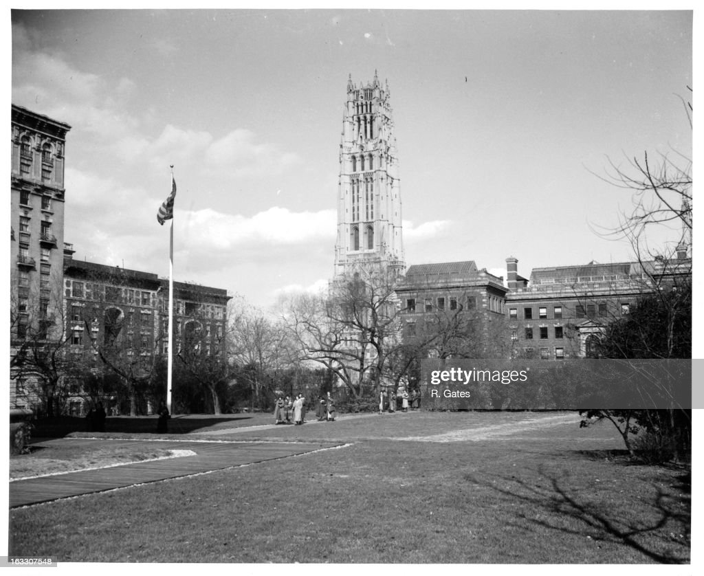 A campus view of Barnard College a private women's liberal arts college and a member of the Seven Sisters and affiliated with Columbia University in...