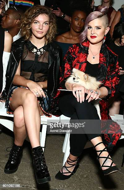 Camren Bicondova and Kelly Osbourne attend Front Row at Milly September 2016 New York Fashion Week at Art Beam on September 9 2016 in New York City