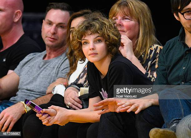 Camren Bicondova attends a basketball game between the Orlando Magic and the Los Angeles Lakers at Staples Center on January 9 2015 in Los Angeles...