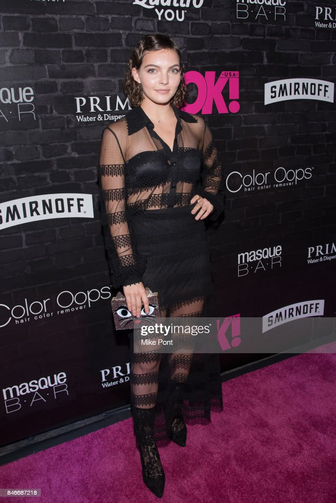 Camren Bicondova attends OK! Magazine's Fall Fashion Week 2017 Event at Hudson Hotel on September 13, 2017 in New York City.