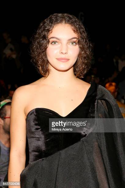 Camren Bicondova attends the John Paul Ataker fashion show during New York Fashion Week The Shows at Gallery 1 Skylight Clarkson Sq on September 11...