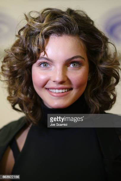 Camren Bicondova attends the WonderCon 2017 Day 3 at Anaheim Convention Center on April 2 2017 in Anaheim California