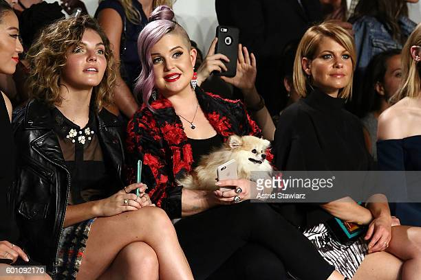 Camren Bicondova Kelly Osbourne and Candace Cameron Bure attend Front Row at Milly September 2016 New York Fashion Week at Art Beam on September 9...