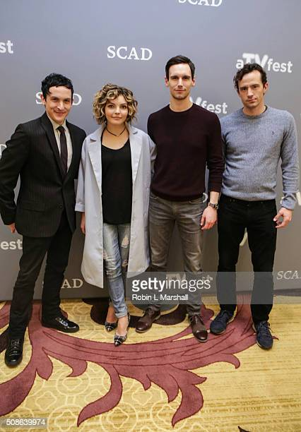 Camren Bicondova Nathan Darrow Cory Michael Smith and Robin Lord Taylor attend 4th Annual aTVfest on February 5 2016 in Atlanta Georgia