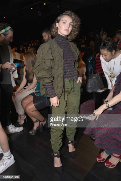 Camren Bicondova poses at the Vivienne Tam SS 2018 Runway Show at Gallery 1 Skylight Clarkson Sq on September 10 2017 in New York City