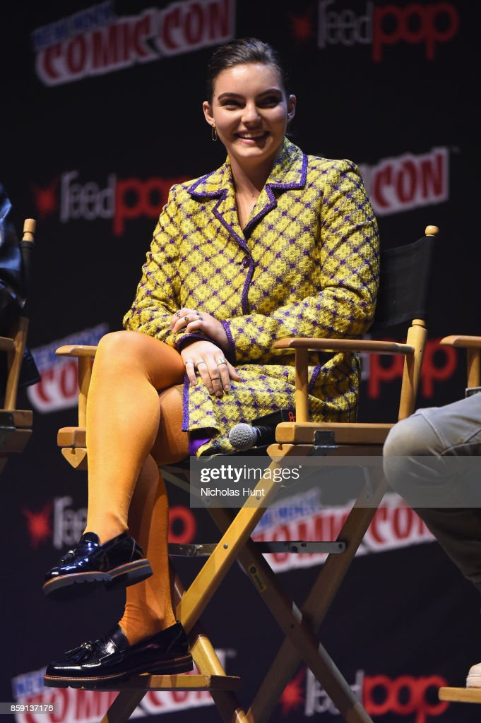 Camren Bicondova speaks onstage at the Gotham Panel during the 2017 New York Comic Con on October 8, 2017 in New York City.