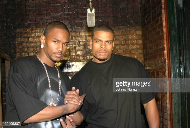 Camron and Benny Bone during Bone Crusher Remix Video Shoot Featuring Busta Rhymes Camron Juelz Santana and Jadakiss at Broadway Warehouse in New...