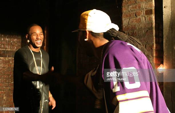 Camron and Busta Rhymes during Bone Crusher Remix Video Shoot Featuring Busta Rhymes Camron Juelz Santana and Jadakiss at Broadway Warehouse in New...