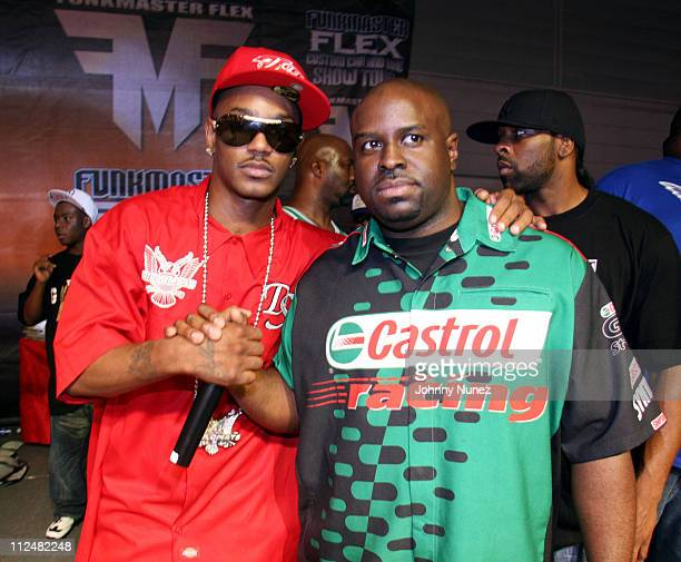 Camron and Funkmaster Flex during Funkmaster Flex Custom Bike and Car Show September 9 2006 at Atlantic City Convention Center in Atlantic City New...