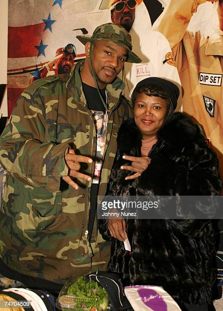 Cam'Ron and his mother at the Def Jam Offices in New York City New York