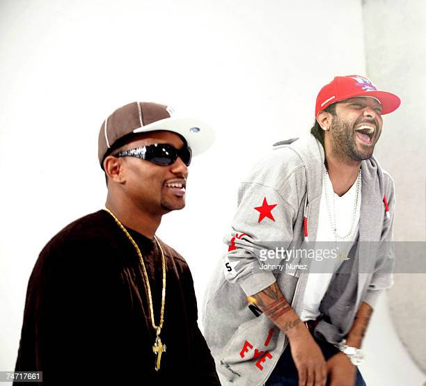 Camron and Jim Jones at the Private Studio on 19 th Street in New York City New York