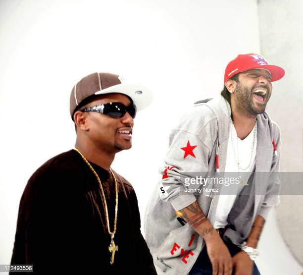 Camron and Jim Jones during Juelz Santana Video for 'Mic Check' at Private Studio on 19 th Street in New York City New York United States