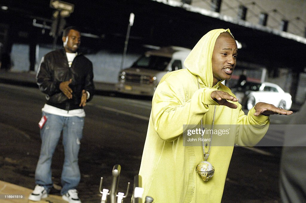 "Cam'ron on the Set of ""Down and Out"" Music Video - April 21, 2005"