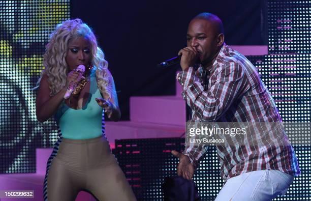 Cam'ron and Nicki Minaj perform at Pepsi Presents Nicki Minaj's Pink Friday Tour at Roseland on August 14 2012 in New York City