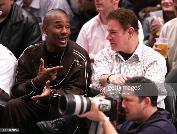 Cam'Ron and Robert Wuhl during Celebrities Attend Washington Wizards vs New York Knicks Game November 15 2006 at Madison Square Garden in New York...