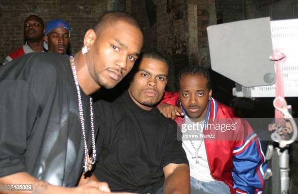 Camron Benny Bone and Jermaine Dupri during Bone Crusher Remix Video Shoot Featuring Busta Rhymes Camron Juelz Santana and Jadakiss at Broadway...
