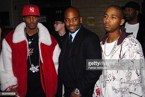 Cam'ron Damon Dash and attend Marc Jacobs Fall 2006 Fashion Show at NY State Armory on February 6 2006 in New York