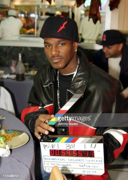 Cam'Ron during Diplomat's 'Santana' Video Shoot October 23 2004 at Capitale in New York City New York United States