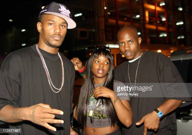 Camron Nicole Wray and Rell during Jim Jones Album Release Party at Babalu at Babalu in New York City New York United States