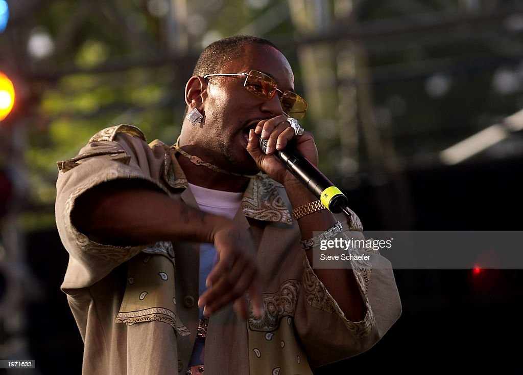 Cam'ron performs May 3, 2003 during the Music Midtown concert in Atlanta, Georgia. The Music Midtown event features over 120 international, national and local musical acts performing on 11 stages over a 3-day period on a 40 acre complex.