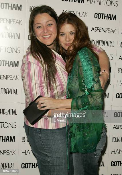 Camryn Manheim and Debra Messing during Los Angeles Confidential Celebrates Gotham Magazine Cover Star Debra Messing at The Maple Drive Atrium in...