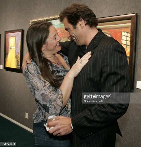 Camryn Manheim and Jerry Penacoli during Jerry Penacoli's Debut Art Opening at Decor Art Galleries in Studio City California United States