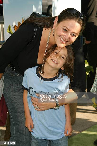 Camryn Manheim and son during 'Shrek The Third' New York City Screening Arrivals at Clearview Chelsea West Theatre at 333 West 23rd Street in New...