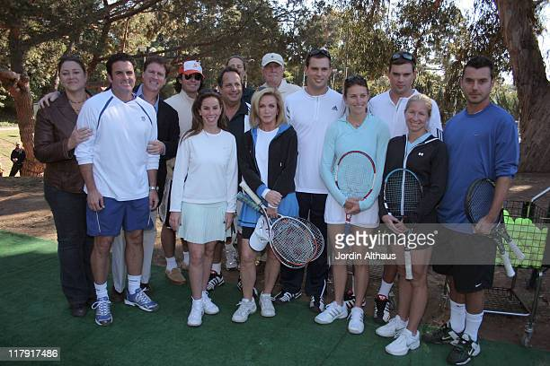 Camryn Manheim Brian MacPhie Melissa Rivers Jon Lovitz Donna Mills George Lazenby Steve Bellamy founder of the Tennis Channel Mike Bryan and Bob...