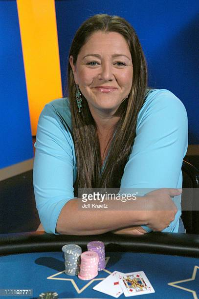 Camryn Manheim during Celebrity Blackjack Matt Vasgersian hosts Celebrity Blackjack a one hour weekly tournament featuring 40 stars competing for a...