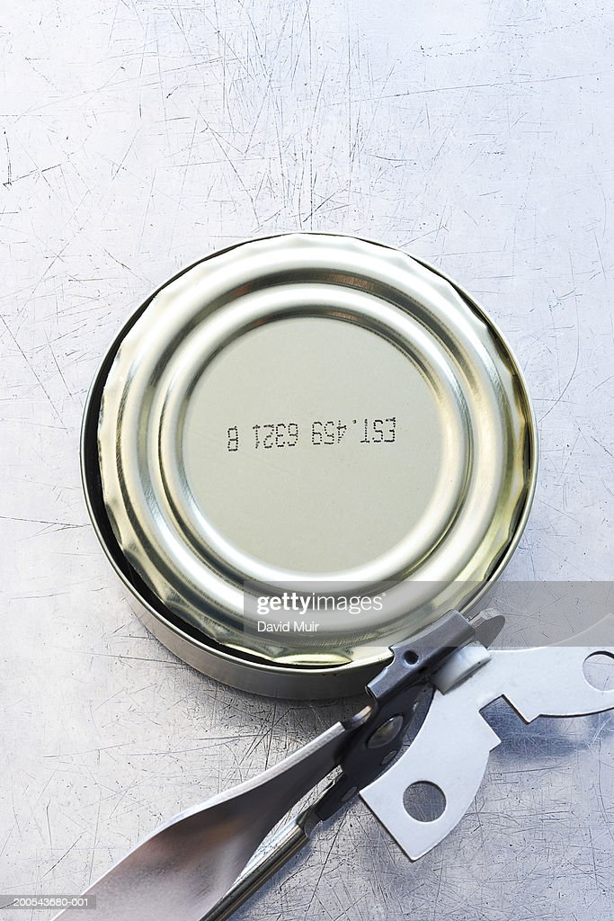 Can and can opener, close-up
