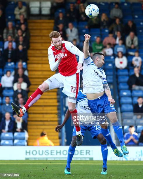 Can Bolger of Fleetwood Town and Antony Kay of Bury during the Sky Bet League One match between Bury and Fleetwood Town at Gigg Lane on March 25 2017...