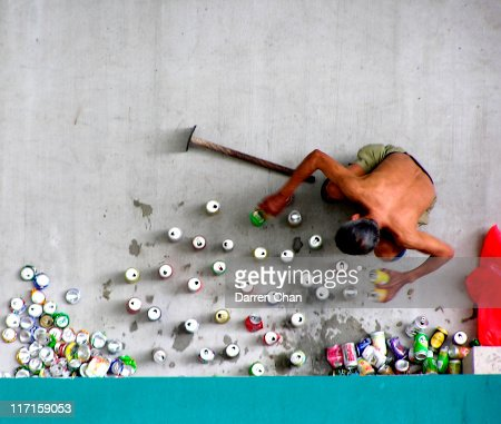 Can Crusher : Stock Photo