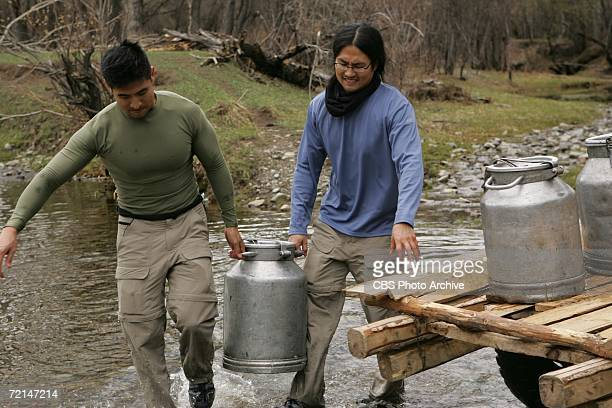 'Can Horses Smell Fear' Godwin and Erwin perform a Detour challenge in Mongolia which required teams to gather enough water from a river to fill a...