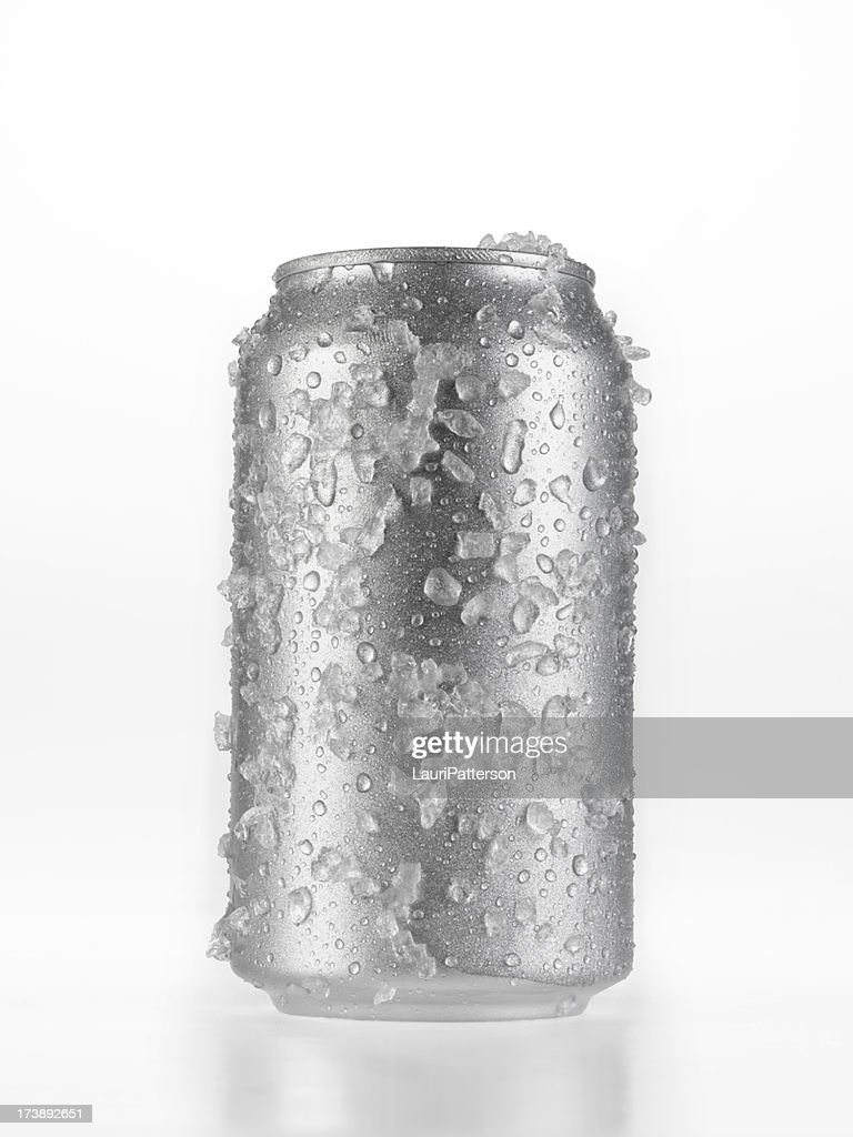 Can Of Beer covered in Ice : Stock Photo