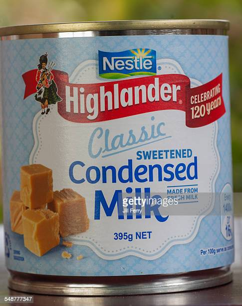 A can of Nestle Highlander sweetened Condensed Milk