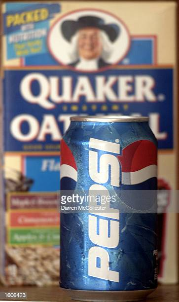 A can of Pepsi is shown in front of a box of Quaker Instant Oatmeal August 2 2001 in Boston MA The Federal Trade Commission Wednesday decided to let...