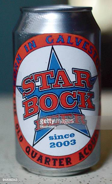 A can of Star Bock beer is pictured on the bar at the Old Quarter Accoustic Cafe in Galveston Texas on Tuesday April 27 2004 Bar owner and Rex...