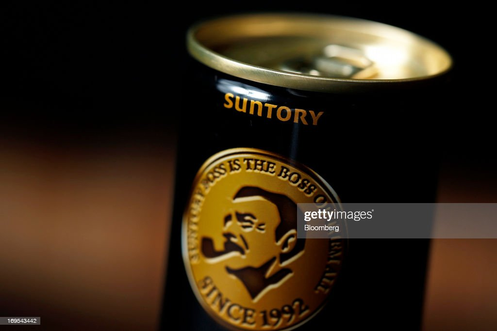 A can of Suntory Beverage & Food Ltd.'s Boss brand coffee is arranged for a photograph in Soka City, Saitama Prefecture, Japan, on Sunday, May 26, 2013. Nomura Holdings Inc., Morgan Stanley and JPMorgan Chase & Co. were selected as the lead banks to manage Suntory Beverage & Food Ltd.'s initial public offering, said two people with knowledge of the matter. Photographer: Kiyoshi Ota/Bloomberg via Getty Images