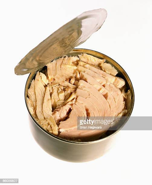Can of tuna with open lid