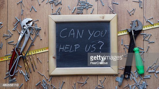 Can you help us : Stock Photo