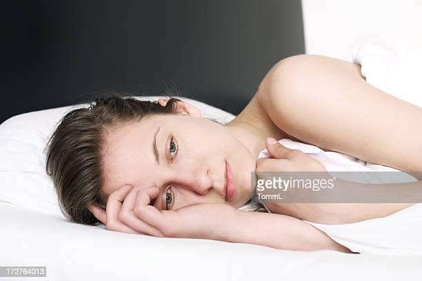 Kann Sie nicht schlafen