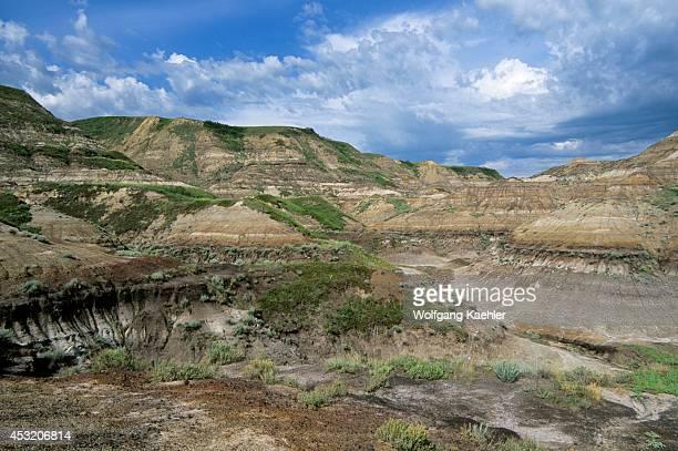Canada Alberta Drumheller Canadian Badlands Landscape