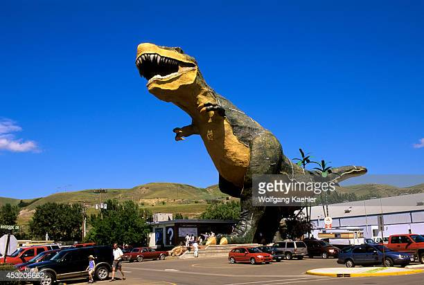 Canada Alberta Drumheller World's Largest Dinosaur Statue