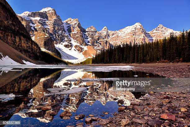 Canada, Banff National Park, View of Moraine Lake and Valley of the Ten Peaks