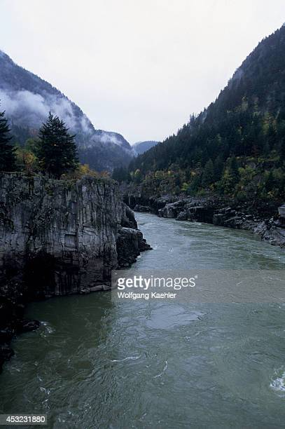 Canada Bc Near Hope Fraser Canyon At Hell's Gate Airtram Fraser River