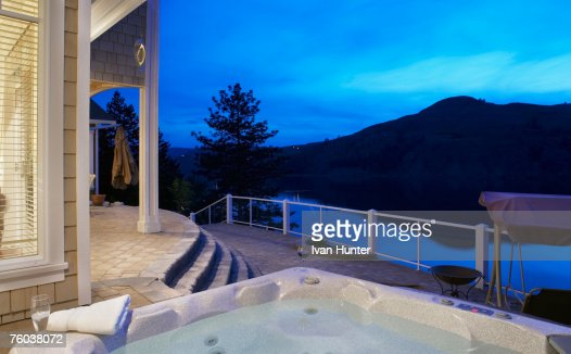Canada british columbia coldstream hot tub on terrace of for Terrace house stream online