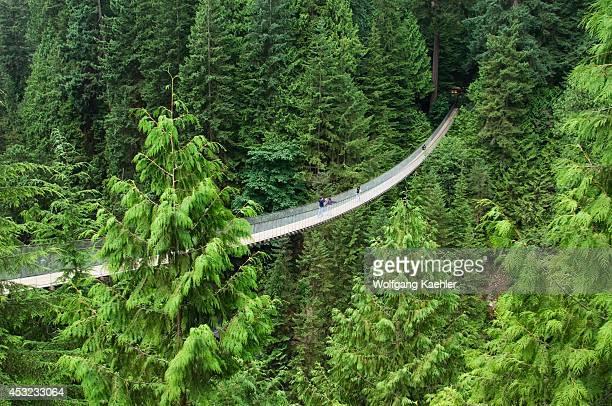 Canada British Columbia Vancouver Capilano Suspension Bridge