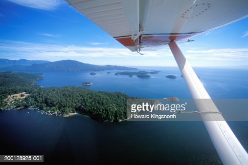 Canada, British Columbia, Vancouver, Sunshine Coast, view from plane